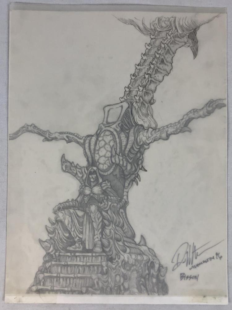 "Wishmaster (1997) - Djinn""s Throne Concept Artwork - Set of 2"