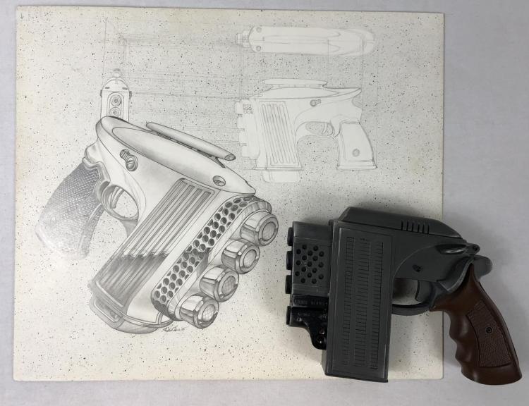 The Demolitionist (1995) - Nicole Eggert Screen Used Prop Gun & Original Art