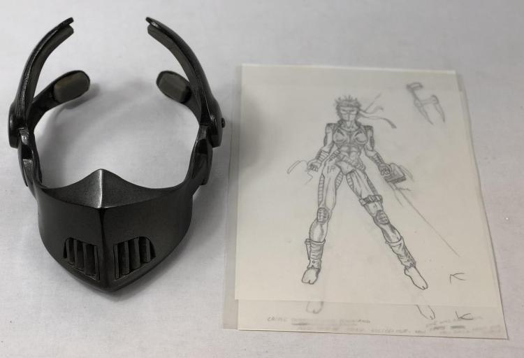 The Demolitionist (1995) - Nicole Eggert Screen Worn Mask & Original Art