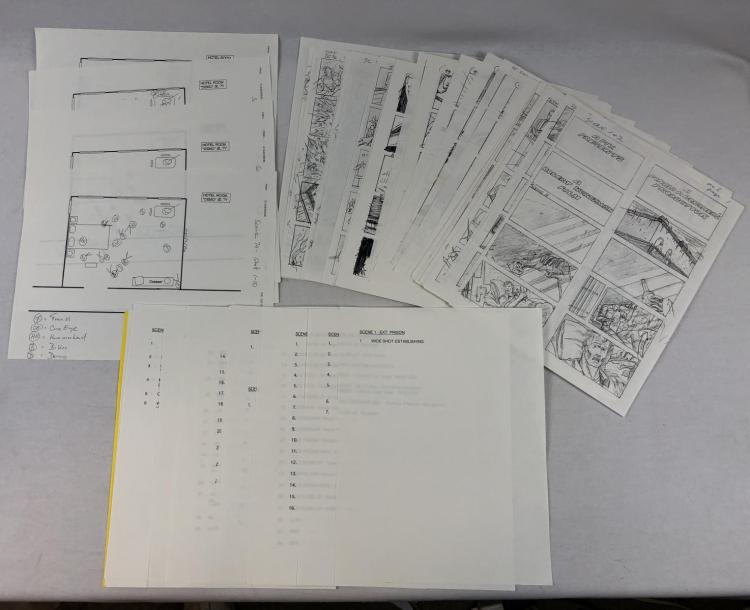 The Demolitionist (1995) - Original Hand Drawn Storyboards and Scene Layouts