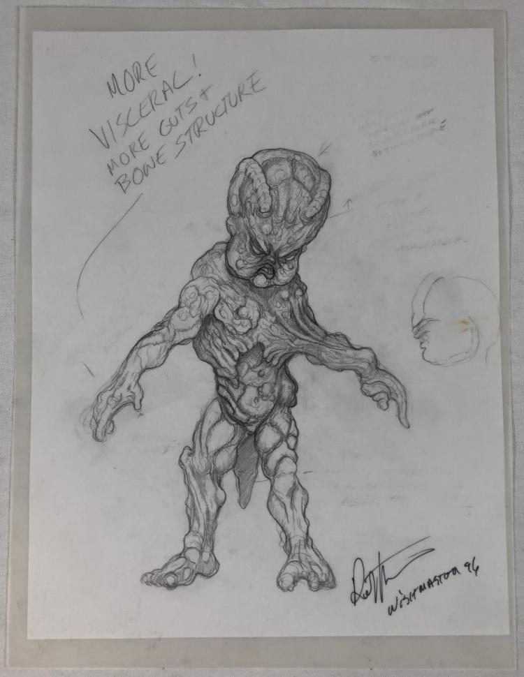 Wishmaster (1997) -  Djinn Baby Concept Artwork Lot A