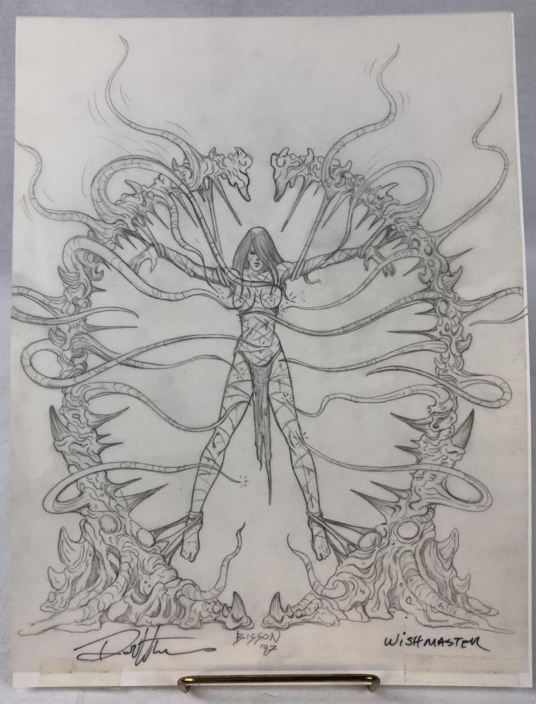 Wishmaster (1997) -  Creature Woman Attack Concept Artwork