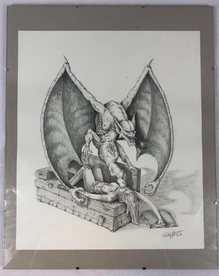 Doppelganger (1993) - Original Doppelganger & Drew Barrymore Concept Art (16x20) by Robert Kurtzman
