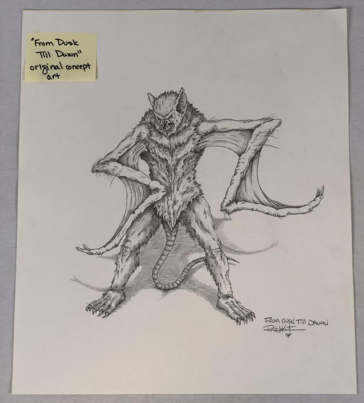 From Dusk Till Dawn (1996) - Vampire Creature Suit Original Concept Art (16x14) by Robert Kurtzman