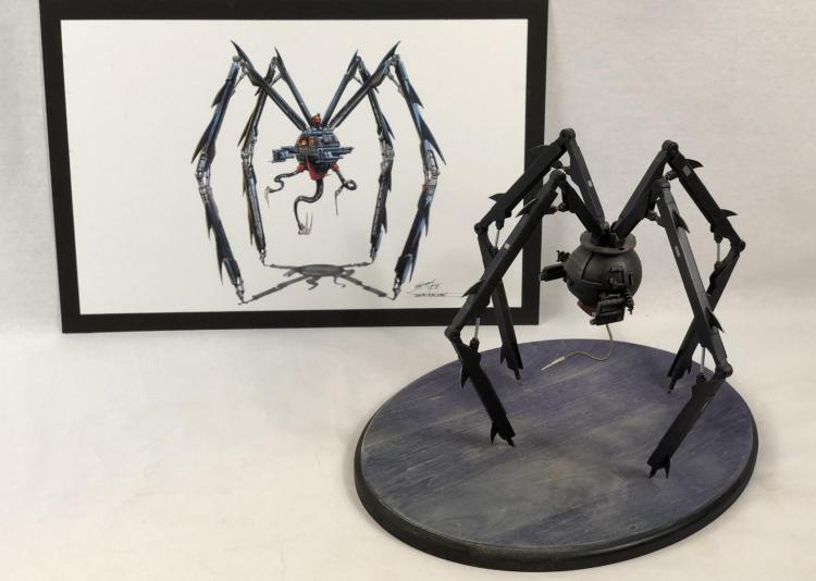 """""""Safecracker"""" Robot Maquette and Hand Drawn Artwork"""