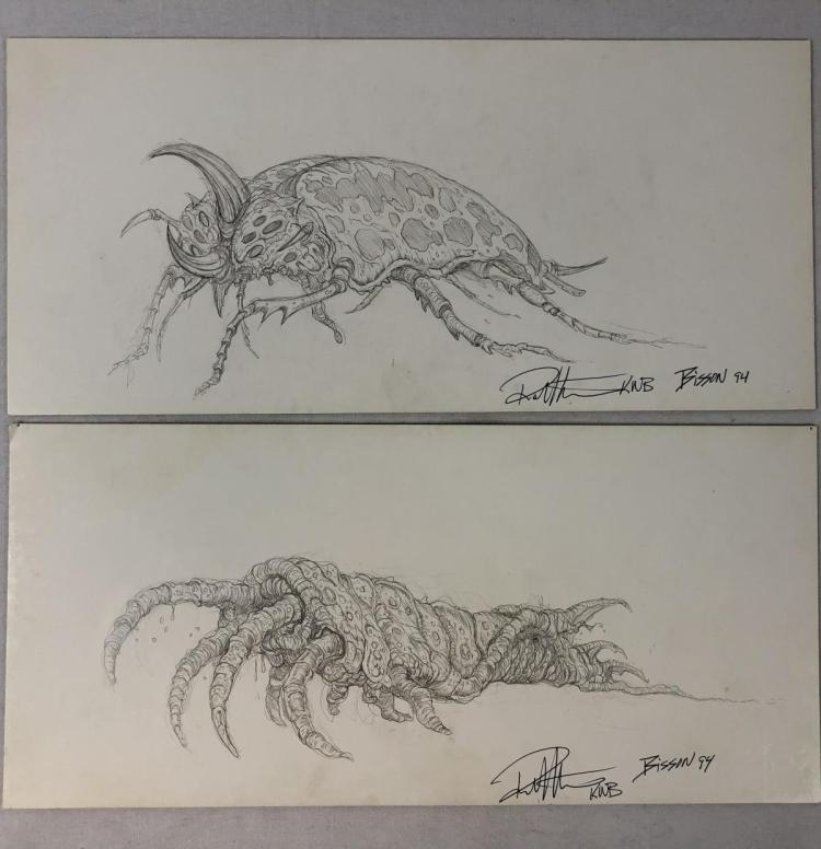 Bug Creature Original Concept Art by KNB Set of Two