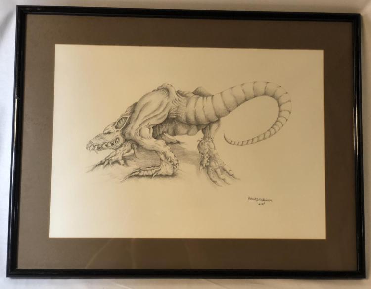 From Dusk Till Dawn (1996) - Vampire Rat Original Concept Art (26x20) by Robert Kurtzman Lot A