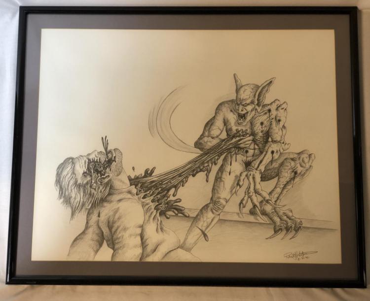 From Dusk Till Dawn (1996) - Vampire Original Concept Art (28x23) by Robert Kurtzman