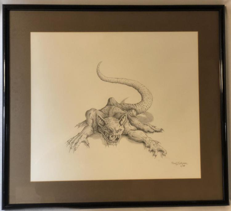 From Dusk Till Dawn (1996) - Vampire Rat Original Concept Art (24x22) by Robert Kurtzman Lot B