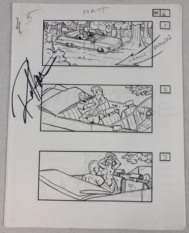 The Rage (2007) - Collection of 13 Sex Scene Storyboard Sheets
