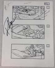 Lot 165: The Rage (2007) - Collection of 13 Sex Scene Storyboard Sheets