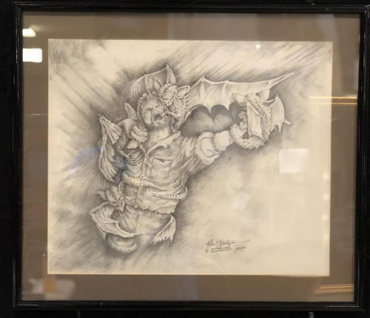 Graveyard Shift (Stephen King 1990) - Concept Artwork (21x18) By Robert kurtzman