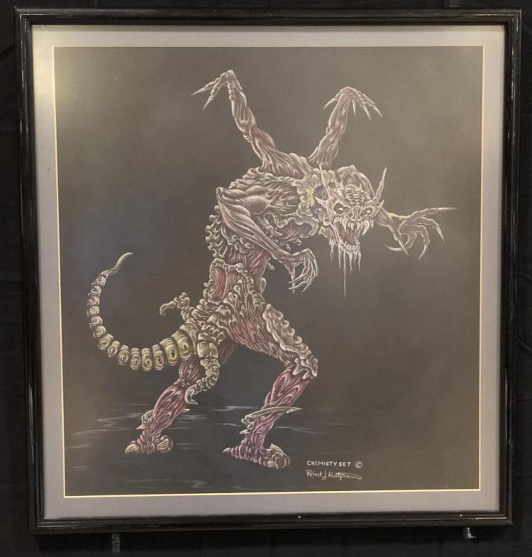 Chemistry Set Original Creature Concept Art (19x20) by Robert Kurtzman