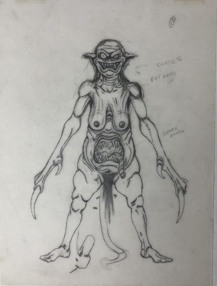 From Dusk Till Dawn (1996) - Vampire Woman Concept Artwork