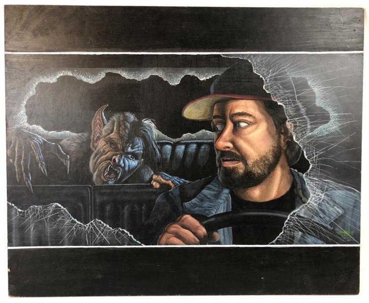From Dusk Till Dawn (1996) - Vampire in Car Original Painting Concept (24x20)