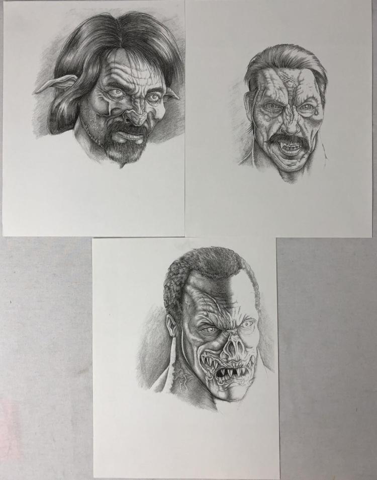 From Dusk Till Dawn (1996) - Vampire Tom Savini , Danny Trejo & Fred Williamson Concept Prints