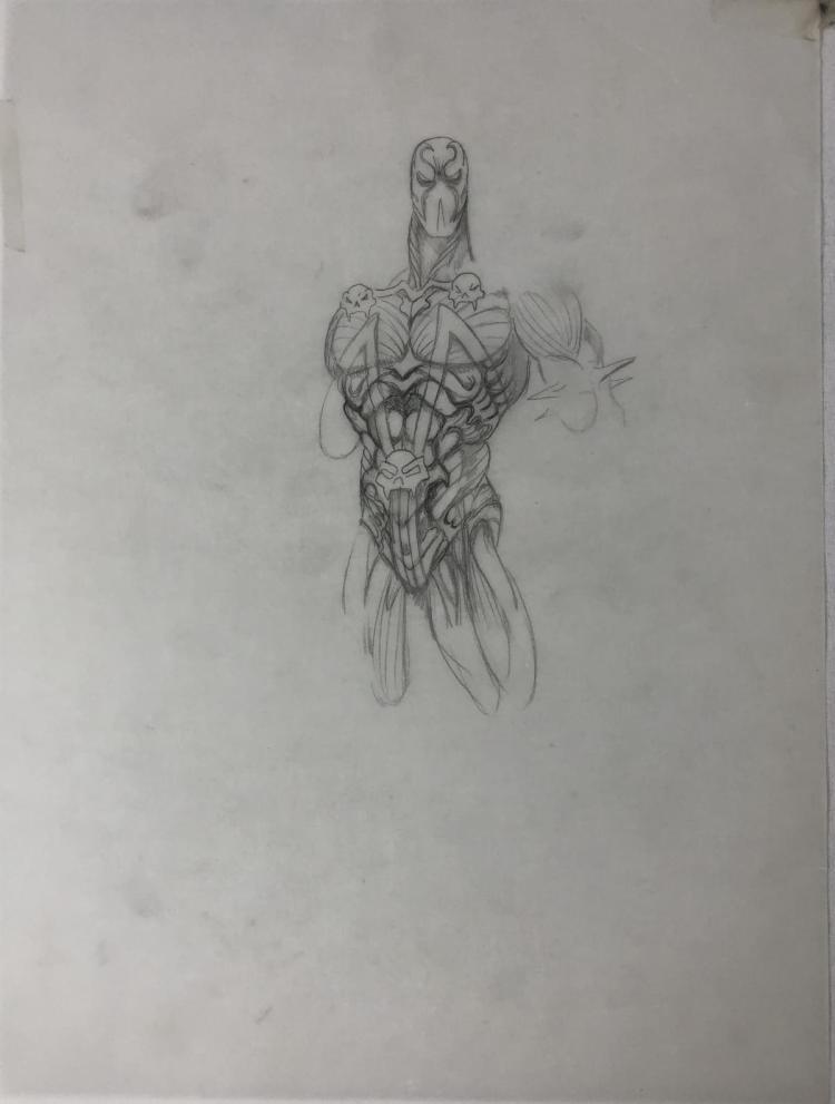 Spawn (1997) -  Original Concept Art - Spawn Suit