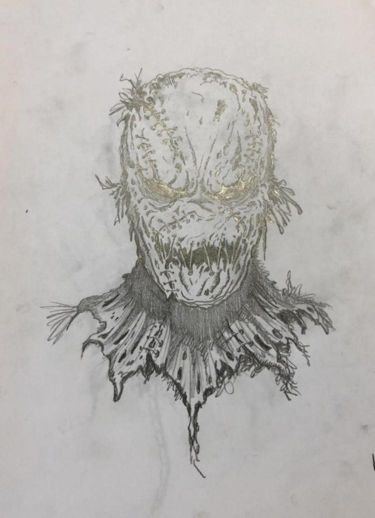 """Hallowed Ground (2007) -  Original """"Scarecrow"""" Concept Design Artwork"""