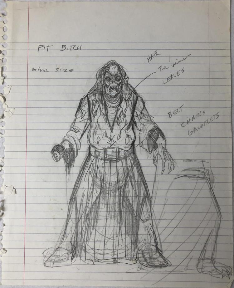 """Army of Darkness"" (1992) - Pit Bitch Original Concept Artwork"