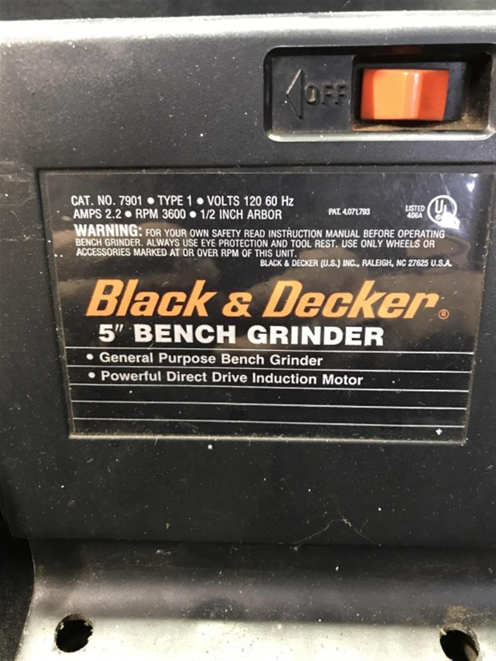 Black Decker 5 Inch Bench Grinder