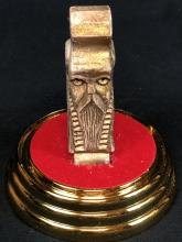 Lot 13: The Hobbit: The Desolation of Smaug (2013) - Erebor Treasure Golden Dwarven Head in Display Case