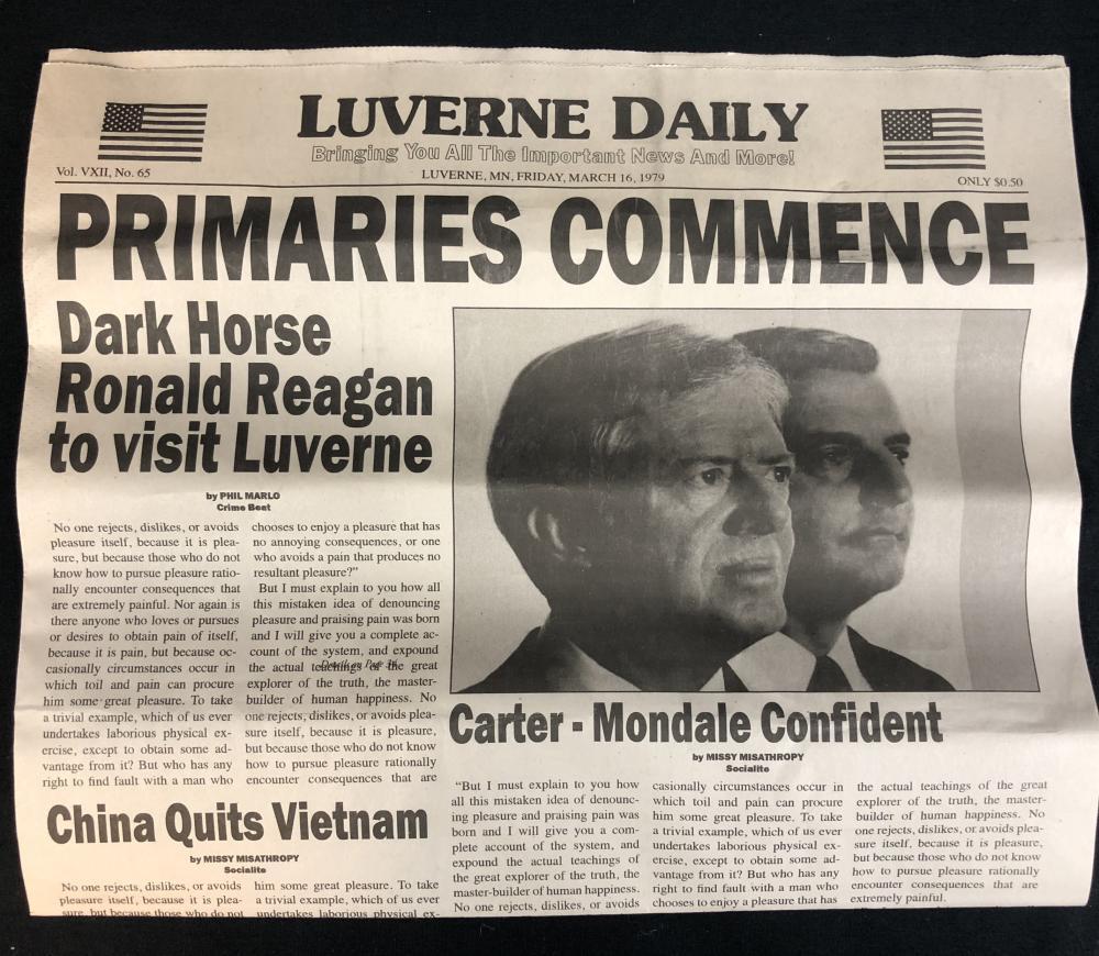 Lot 17: Fargo (2014– ) - Ronald Reagan Newspaper