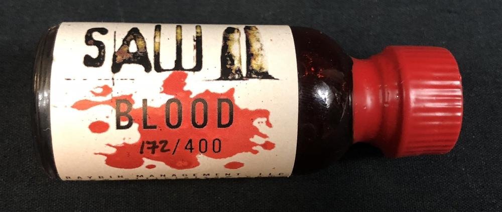 Lot 22: Saw II (2005) - Blood Vial