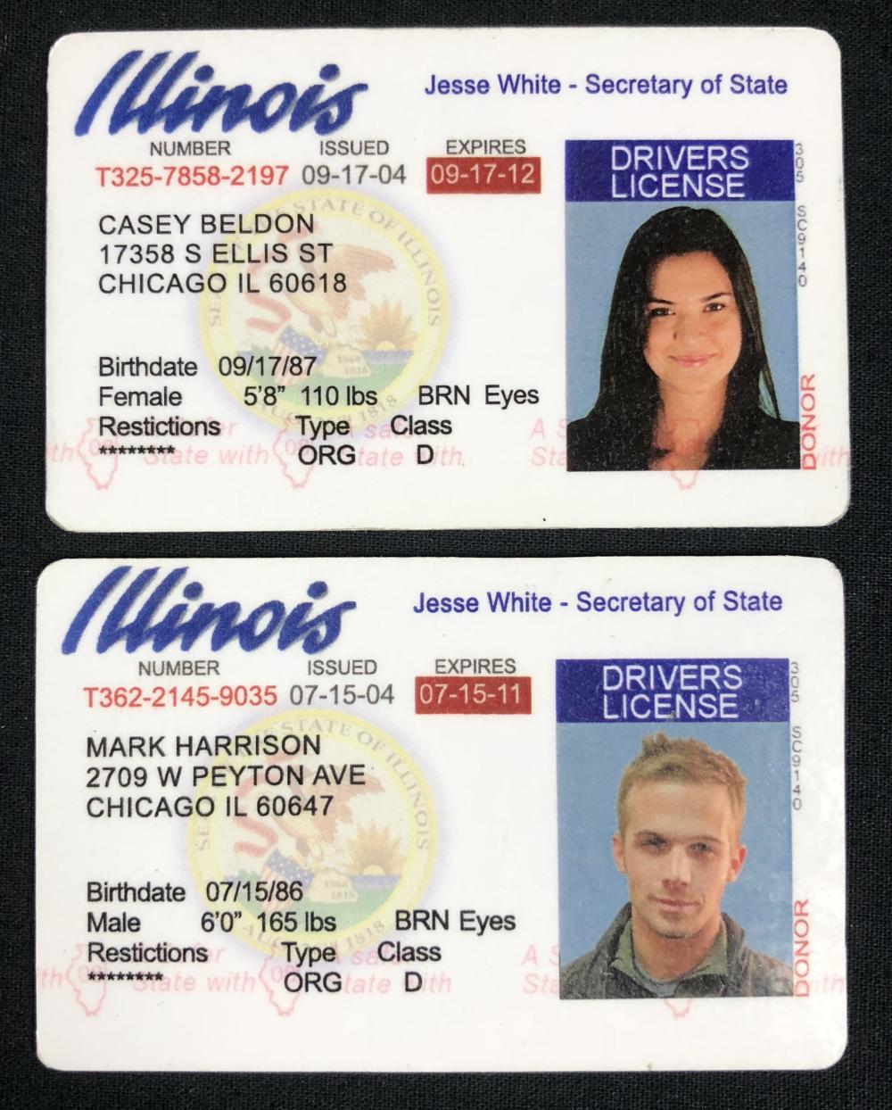 Lot 46: The Unborn (2009) - Odette Annable & Cam Gigandet Driver's Licenses
