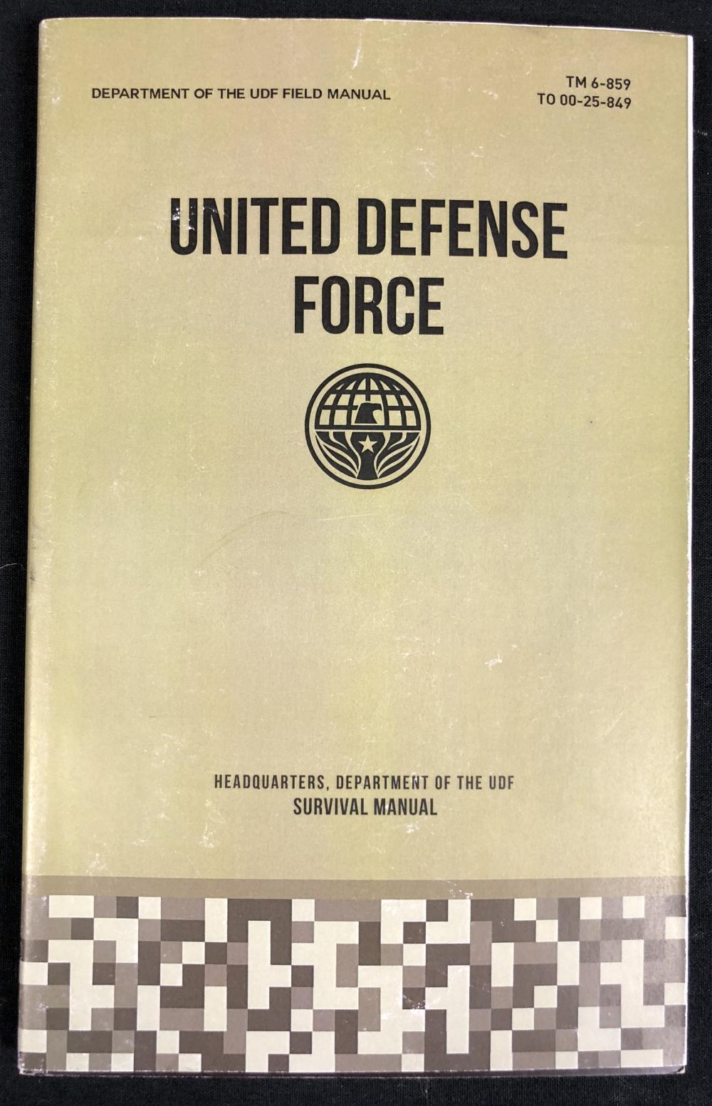 Lot 50: Edge of Tomorrow (2014) - UDF Survival Manual Booklet