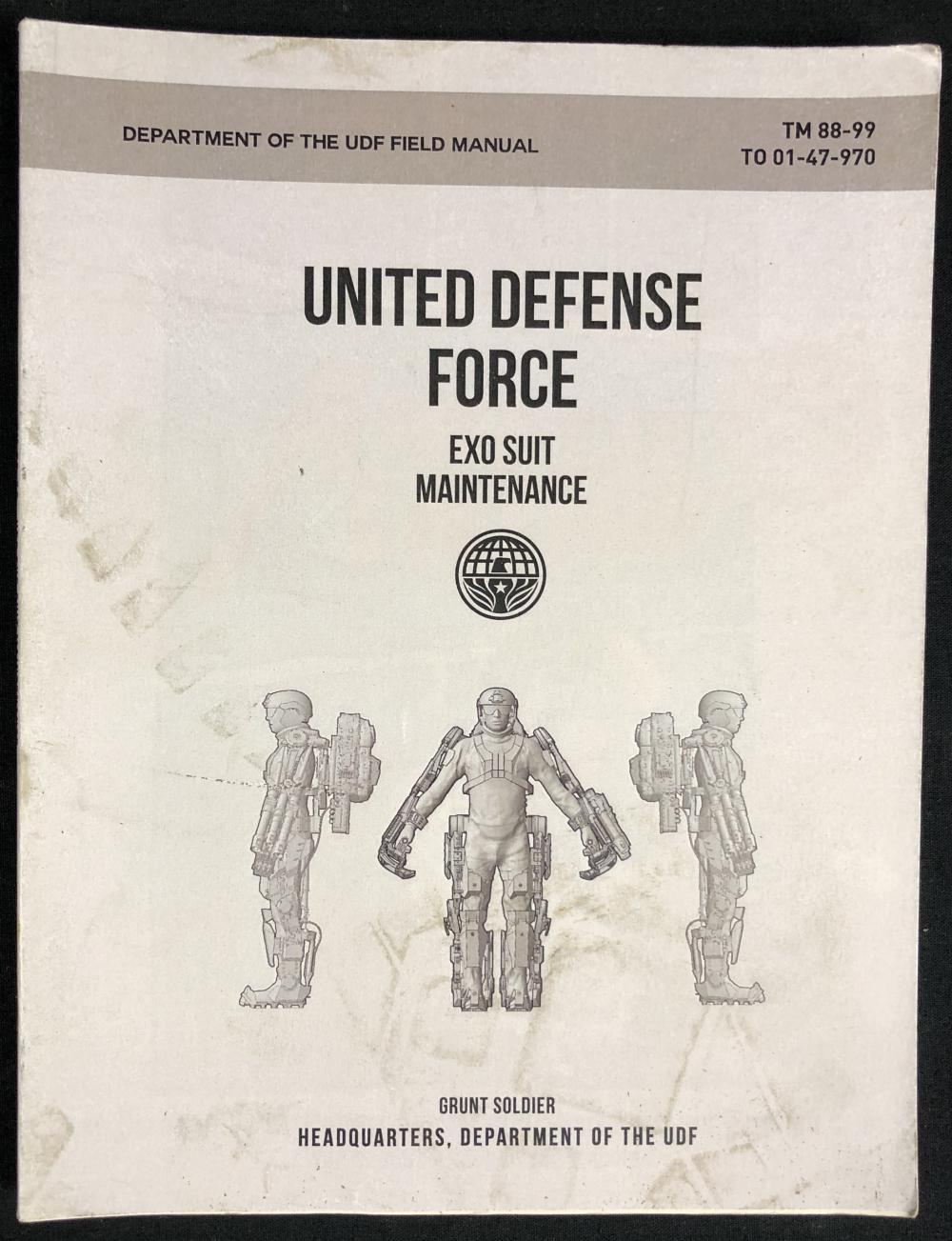 Lot 51: Edge of Tomorrow (2014) - UDF Exo-Suit Maintenance Booklet