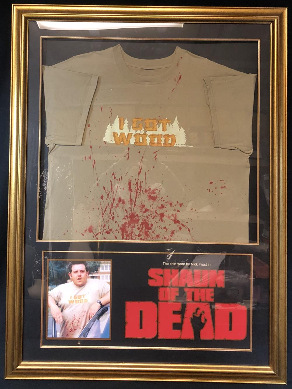 "Shaun of the Dead (2004) - Ed (Nick Frost) ""I Got Wood"" Shirt"