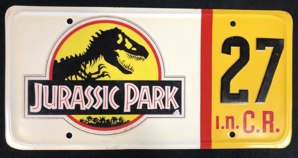 Jurassic Park (1993) - Jeep Wrangler License Plate