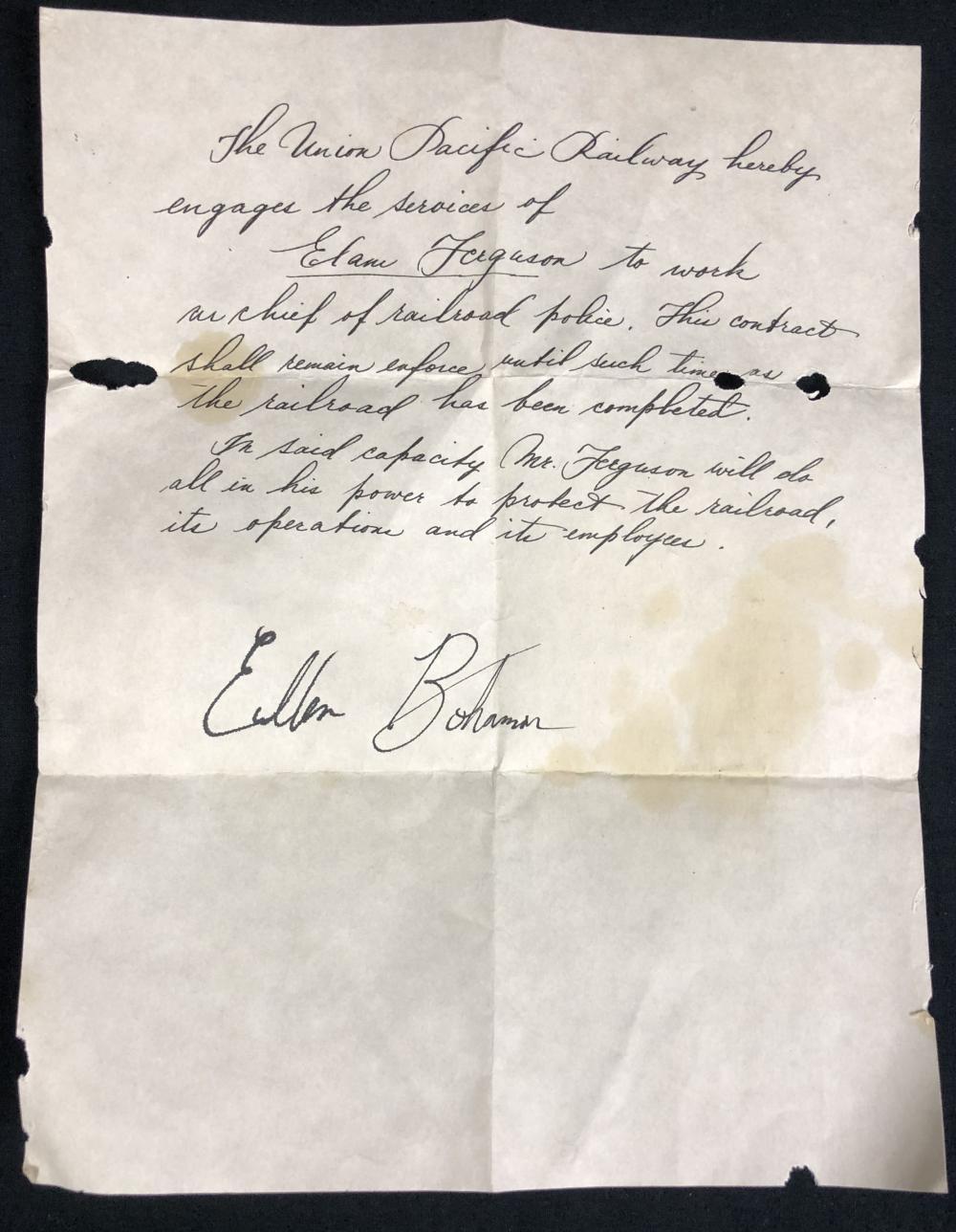 Hell on Wheels (2011–2016) - Anson Mount (Cullen Bohannon) Letter