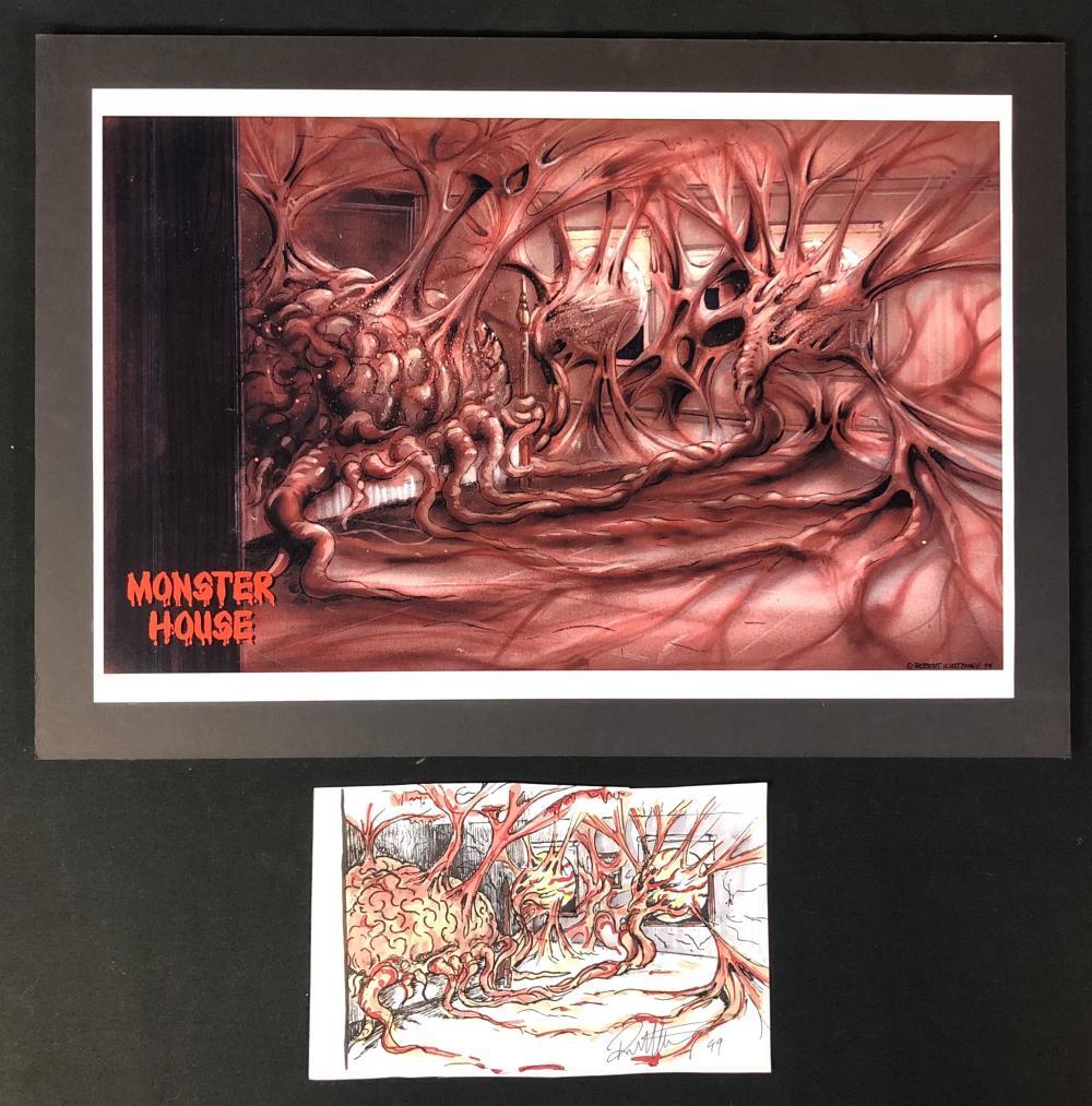 Monster House - Robert Kurtzman Original Hand Drawn + Printed Art Set