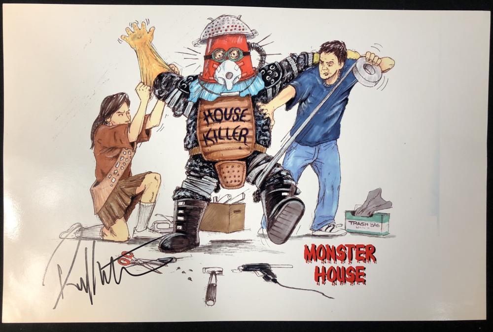 Lot 69: Monster House - Robert Kurtzman Original Production Proposal Print