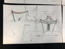 Lot 70: Stargate (1994) - Set of 4 Hand Drawn Pyramid Construction Drawings