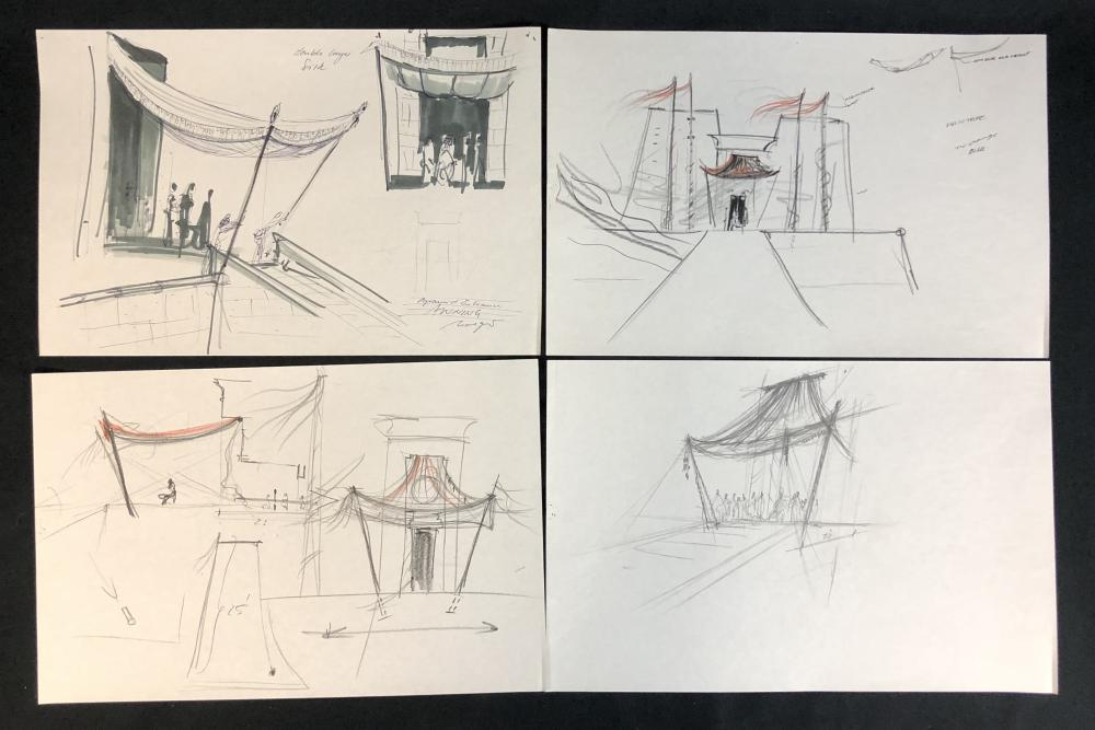 Stargate (1994) - Set of 4 Hand Drawn Pyramid Construction Drawings