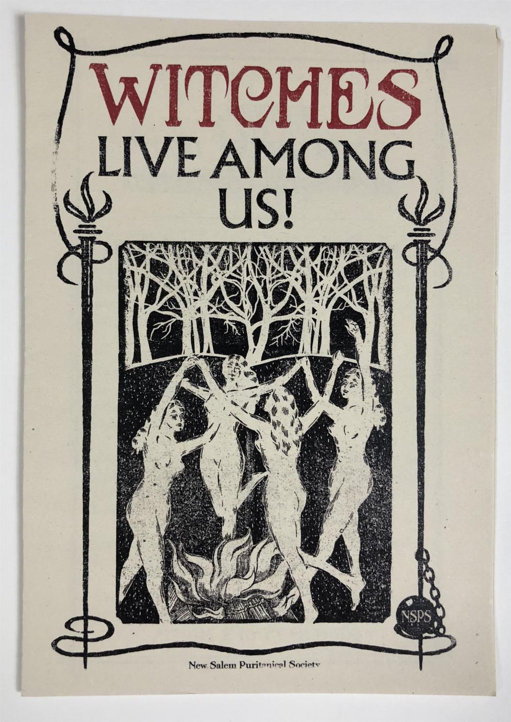 """Fantastic Beasts and Where to Find Them (2016) - """"Witches Live Among Us!"""" Pamphlet - Lot A"""