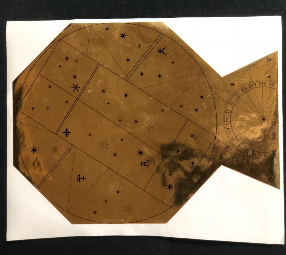 Fantastic Beasts: The Crimes of Grindelwald (2018) - Brass Big Star Foil Plaque Ornament