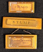 Lot 101: Harry Potter Film Series - 3 Miniature Moving Staircase Portrait Name Plaques