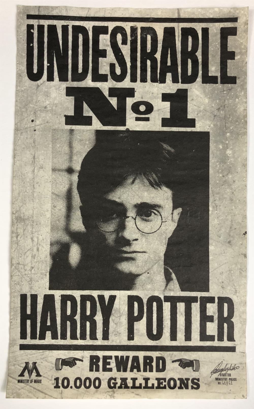 Lot 111: Harry Potter and the Deathly Hallows: Part 1 (2010) - Harry Potter Undesirable No1 Flyer