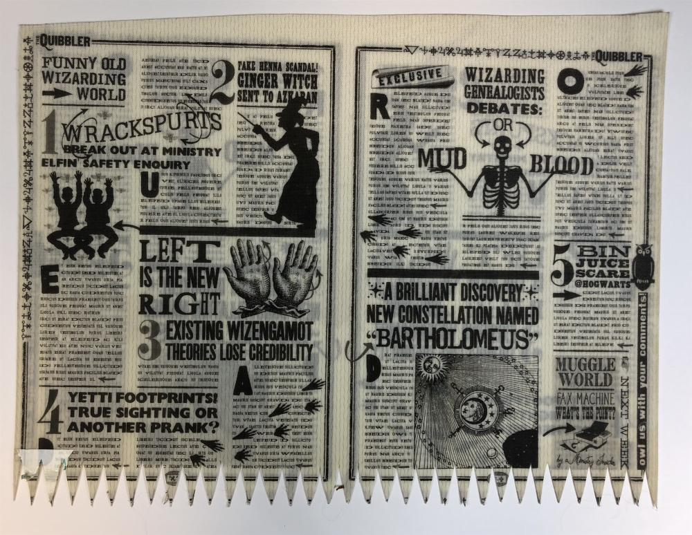 Harry Potter and the Deathly Hallows: Part 1 (2010) - Quibblers Magazine Plastic Pages