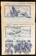 Lot 128: Flash Gordon (1980) - Collection of 20 Production Used Storyboards (Copies)