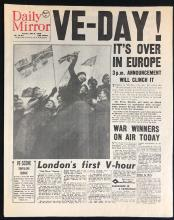 Lot 134: Captain America: The First Avenger (2011) - VE-DAY Newspaper Prop