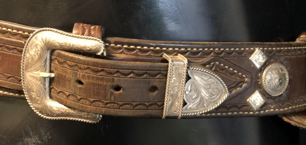 "Lot 140: The Magnificent Seven (2016) - ""Vasquez"" Manuel Garcia-Rulfo Holster Rig and Spurs"