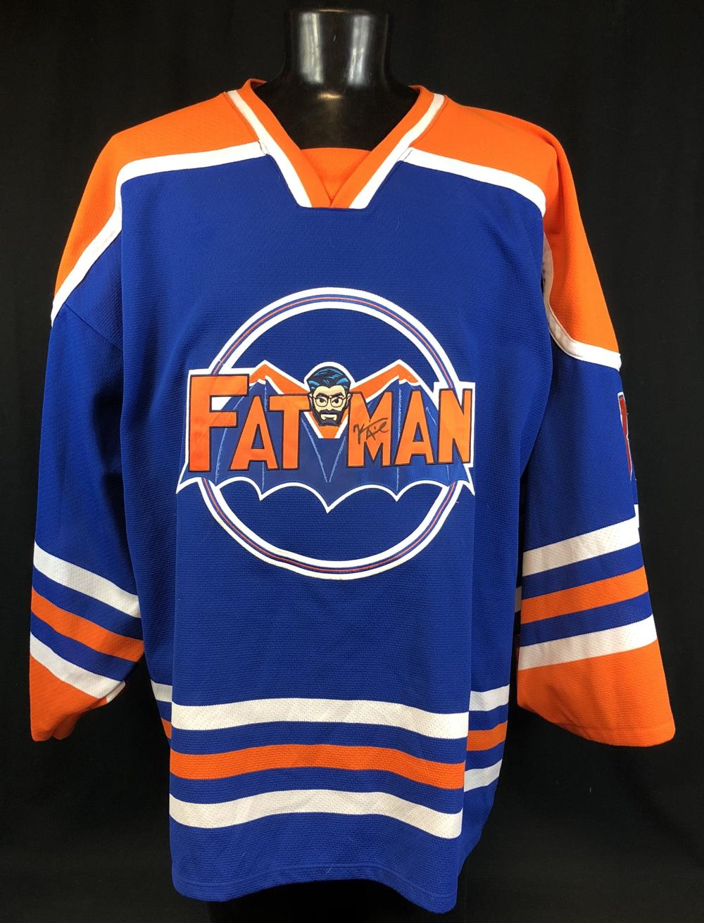 """Kevin Smith Worn and Signed """"Fatman"""" Hockey Jersey From His Closet"""