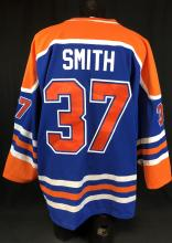 """Lot 143: Kevin Smith Worn and Signed """"Fatman"""" Hockey Jersey From His Closet"""