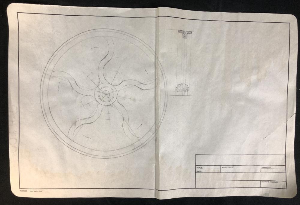 Indiana Jones and the Temple of Doom (1984) - Wheel Blueprint