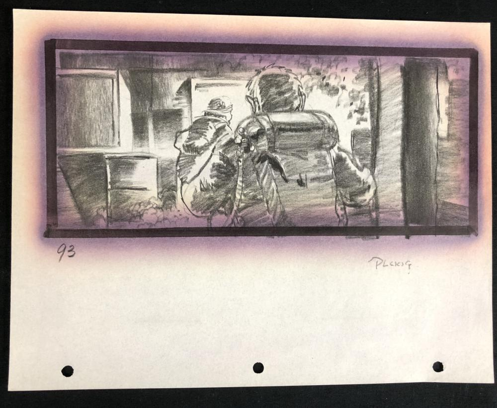 Lot 165: The Thing (1982) - Hand Drawn Storyboard - Flame Thrower