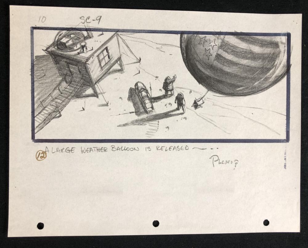 Lot 166: The Thing (1982) - Hand Drawn Storyboard - Balloon